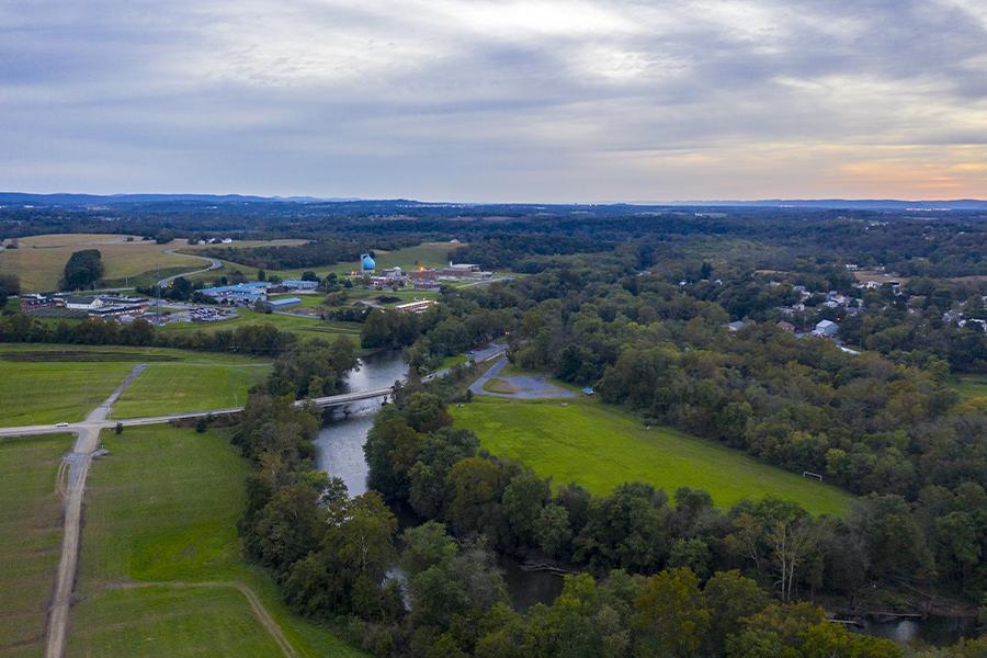 Contact - Pennsylvania Aerial View of Farm Land